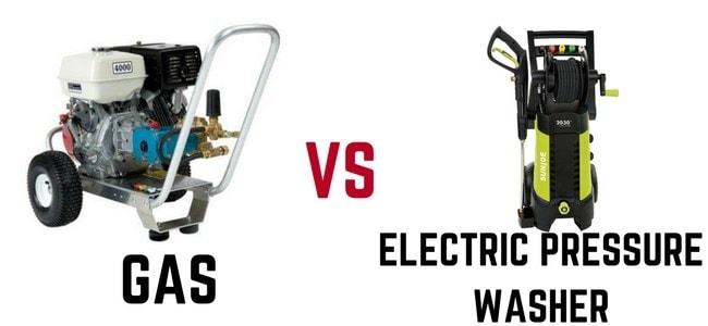 Gas-vs-electric-pressure-washer